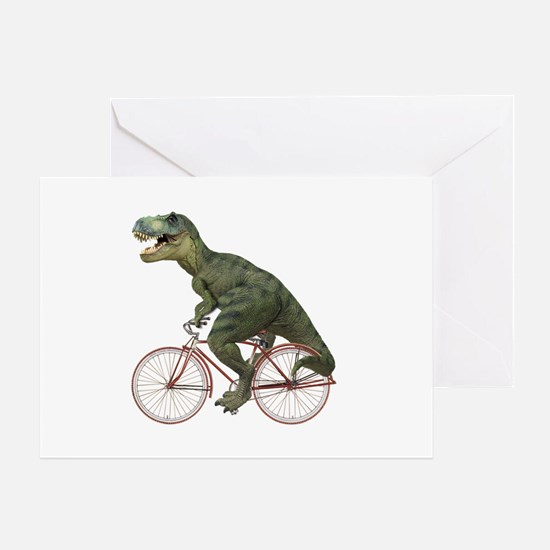 Cycling Tyrannosaurus Rex Greeting Card