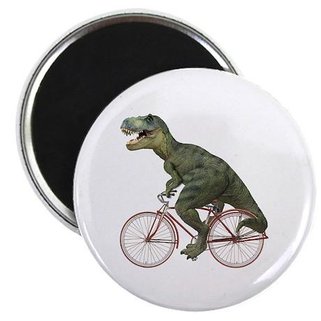 Cycling Tyrannosaurus Rex Magnet