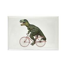Cycling Tyrannosaurus Rex Rectangle Magnet