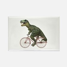 Cycling Tyrannosaurus Rex Rectangle Magnet