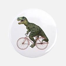 """Cycling Tyrannosaurus Rex 3.5"""" Button"""