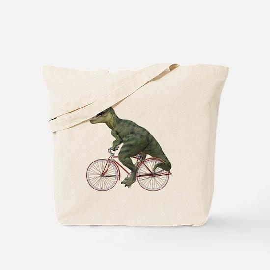 Cycling Tyrannosaurus Rex Tote Bag