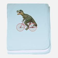 Cycling Tyrannosaurus Rex baby blanket