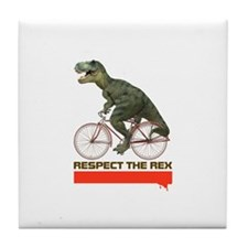 Respect Cycling Tyrannosaurus Tile Coaster