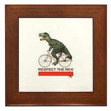 Respect Cycling Tyrannosaurus Framed Tile