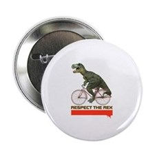 "Respect Cycling Tyrannosaurus 2.25"" Button"