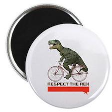 Respect Cycling Tyrannosaurus Magnet