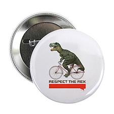 "Respect Cycling Tyrannosaurus 2.25"" Button (100 pa"