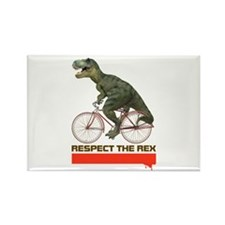 Respect Cycling Tyrannosaurus Rectangle Magnet