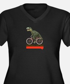 Respect Cycling Tyrannosaurus Women's Plus Size V-