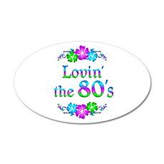 Lovin the 80s 22x14 Oval Wall Peel