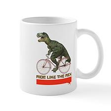 Tyrannosaurus Rex Cyclist Mug