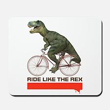 Tyrannosaurus Rex Cyclist Mousepad