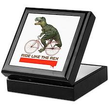 Tyrannosaurus Rex Cyclist Keepsake Box