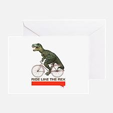 Tyrannosaurus Rex Cyclist Greeting Card