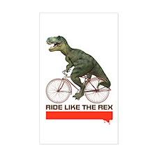 Tyrannosaurus Rex Cyclist Decal