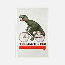 Tyrannosaurus Rex Cyclist Rectangle Magnet
