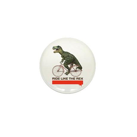 Tyrannosaurus Rex Cyclist Mini Button (10 pack)