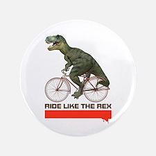 """Tyrannosaurus Rex Cyclist 3.5"""" Button"""