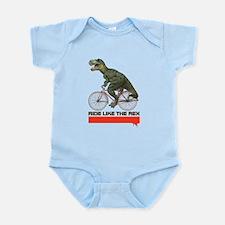 Tyrannosaurus Rex Cyclist Infant Bodysuit