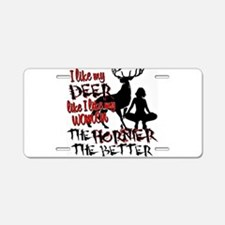 Funny Hunting Aluminum License Plate