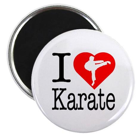 """I Love Karate 2.25"""" Magnet (10 pack)"""