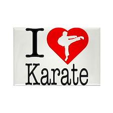 I Love Karate Rectangle Magnet