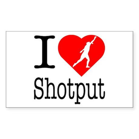 I Love Shotput Sticker (Rectangle 10 pk)
