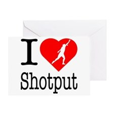 I Love Shotput Greeting Card