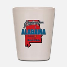 Greetings From Alabama Shot Glass