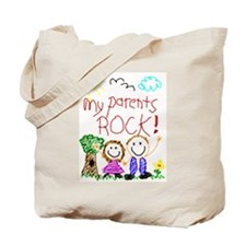 My Parents Rock (Brown Hair Mom) Tote Bag