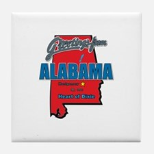 Greetings From Alabama Tile Coaster