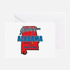 Greetings From Alabama Greeting Card