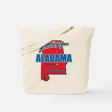 Greetings From Alabama Tote Bag