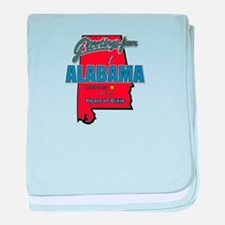 Greetings From Alabama baby blanket