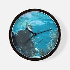ScubaDiving1 Wall Clock