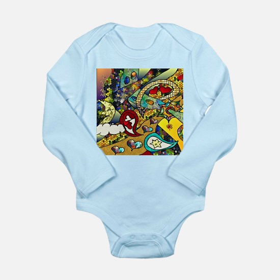 Psychedelic Cycle Of Life Long Sleeve Infant Bodys
