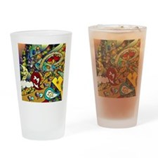 Psychedelic Cycle Of Life Drinking Glass