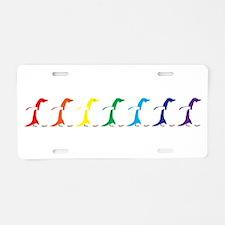 Rainbow Penguins Aluminum License Plate