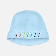 Rainbow Penguins baby hat