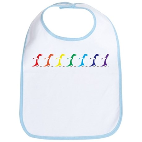 Rainbow Penguins Bib