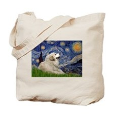 Starry Night Great Pyrenees Tote Bag