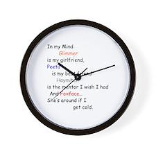 Glimmer GF/Peeta BF/Foxface Cd 1 Wall Clock