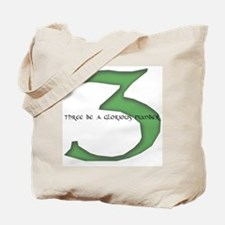 Three be a glorious number Tote Bag