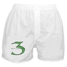 Three be a glorious number Boxer Shorts