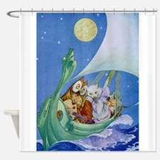 The Owl & the Pussycat Shower Curtain