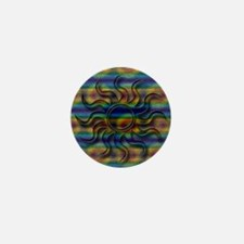 Sun Tye Dye Mini Button