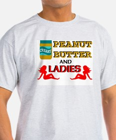 PEANUT BUTTER AND LADIES FUNN Ash Grey T-Shirt