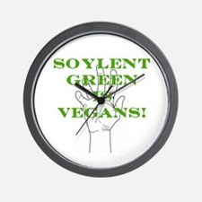 Soylent Green Is Vegans! Wall Clock