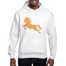 orange Leaping Horse Hoodie